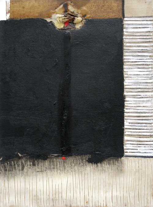 Seve T24-15 Huile et collage sur toile, 81 x 60