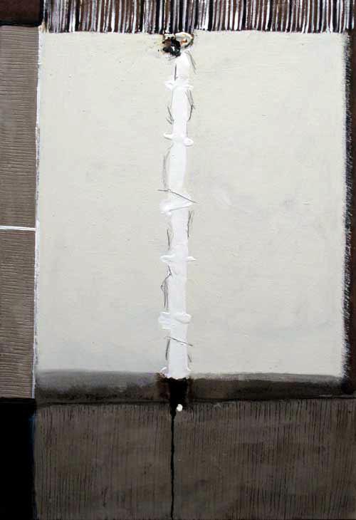 Seve T30-15 Huile, résine et collage sur toile, 146 x 97