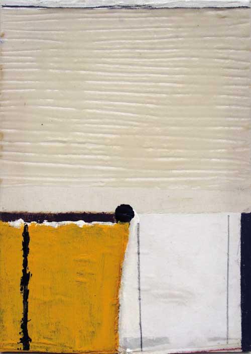 Seve T38-15 Huile et collage sur toile, 46 x 33