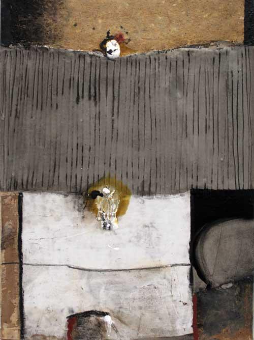Seve T40-15 Huile et collage sur toile, 81 x 60