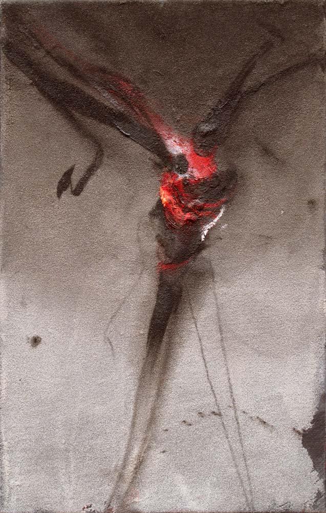 Velickovic - Arbre 1 2013 technique mixte sur toile 35 x 22