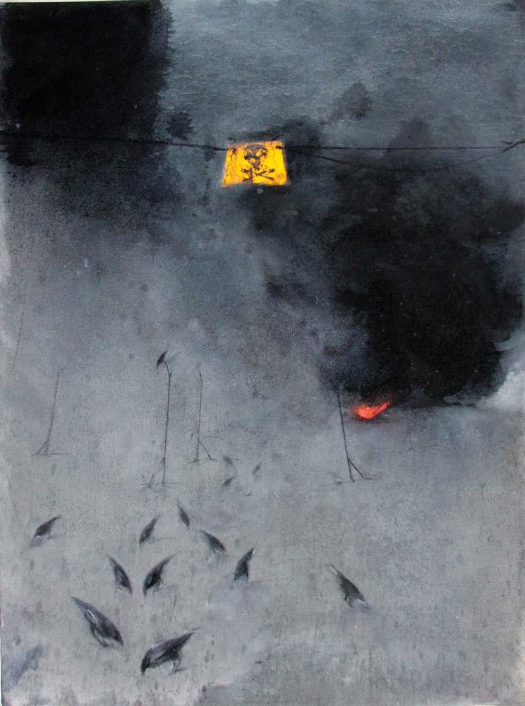 Velickovic - Danger 2016 huile sur toile, 116 x 89