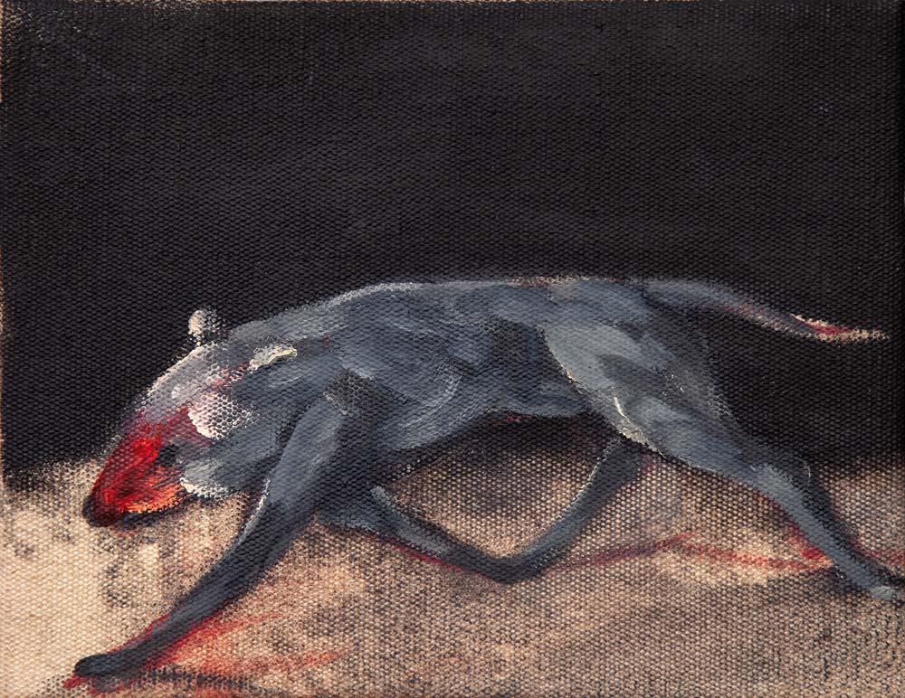 Animal, 2015, huile sur toile, 35 x 27 cm