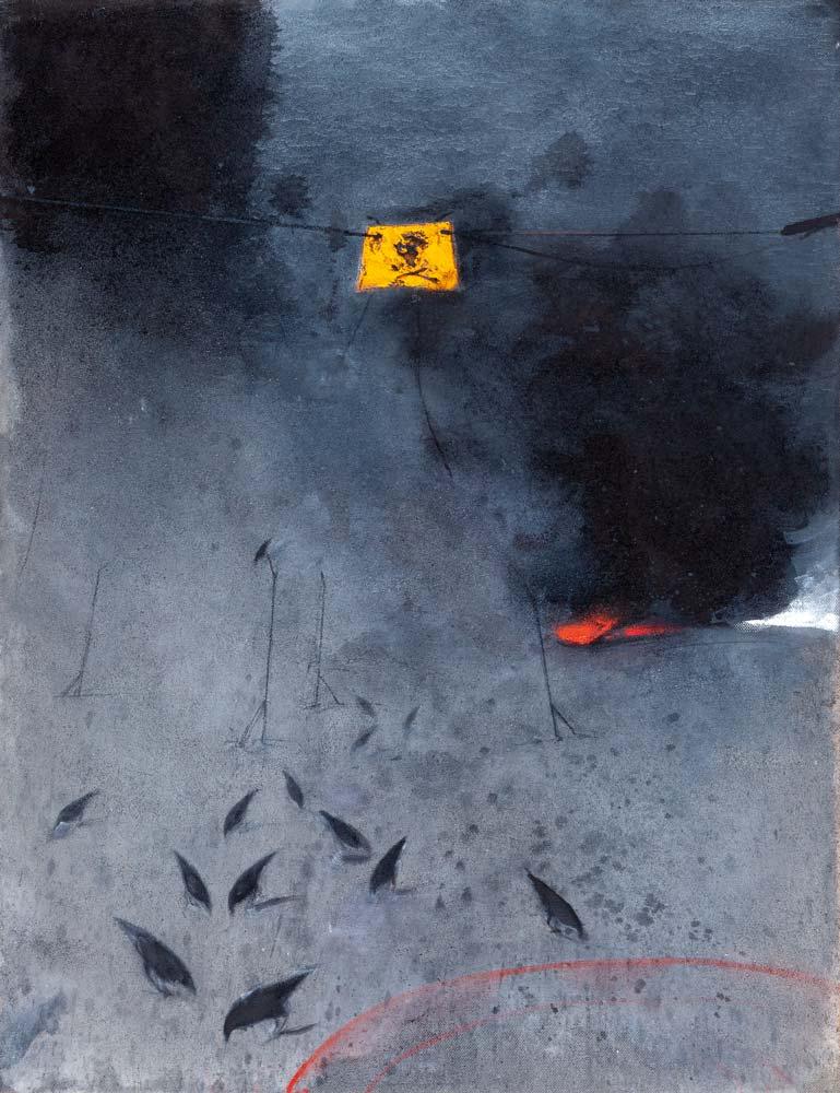 Danger 1, 2016, huile sur toile, 116 x 89 cm