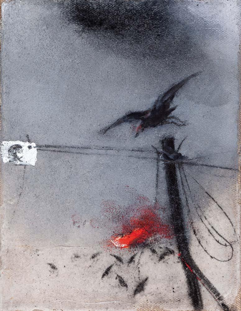 Danger, 2018, huile sur toile, 35 x 27 cm
