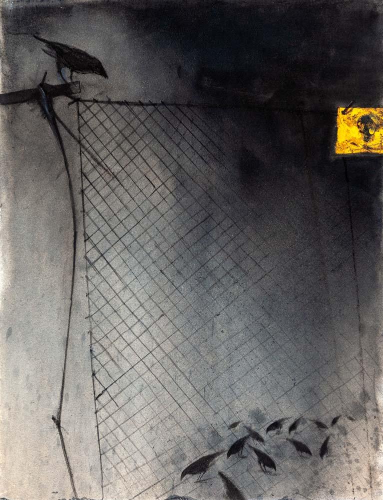 Danger 3, 2016, huile sur toile, 116 x 89 cm