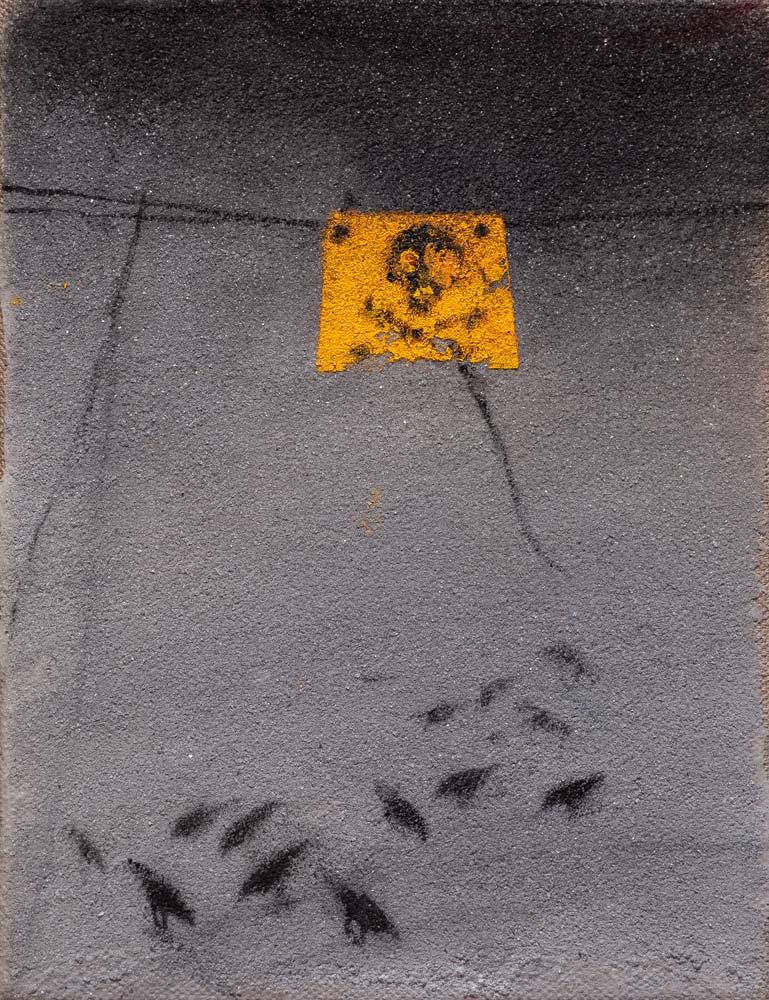 Danger 4, 2016, huile sur toile, 35 x 27 cm