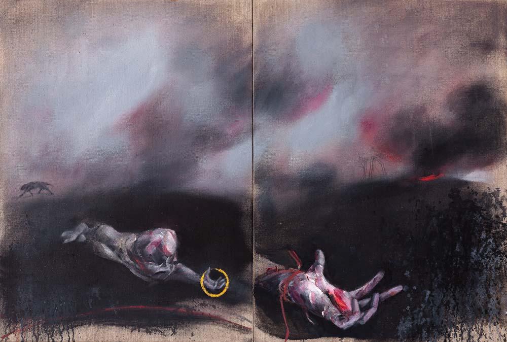 Main, 2016, huile sur toile, 81 x 120 cm