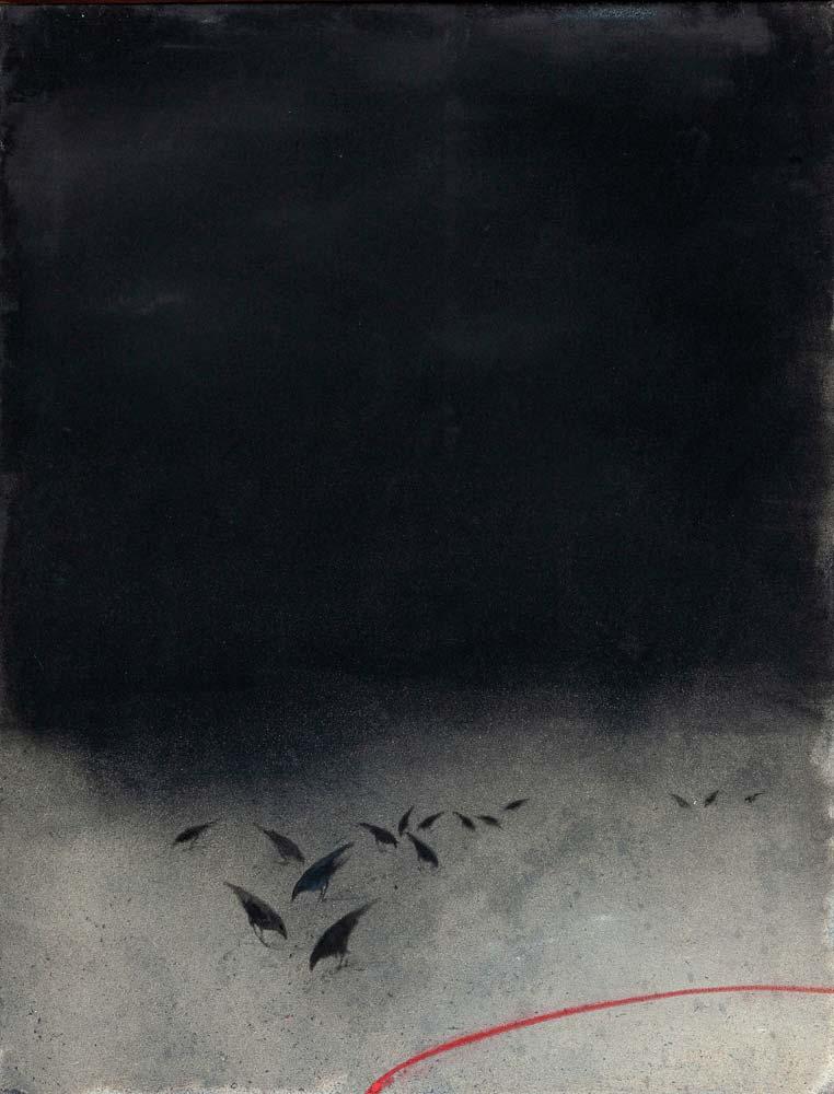 Nuit, 2018, huile sur toile, 116 x 89 cm
