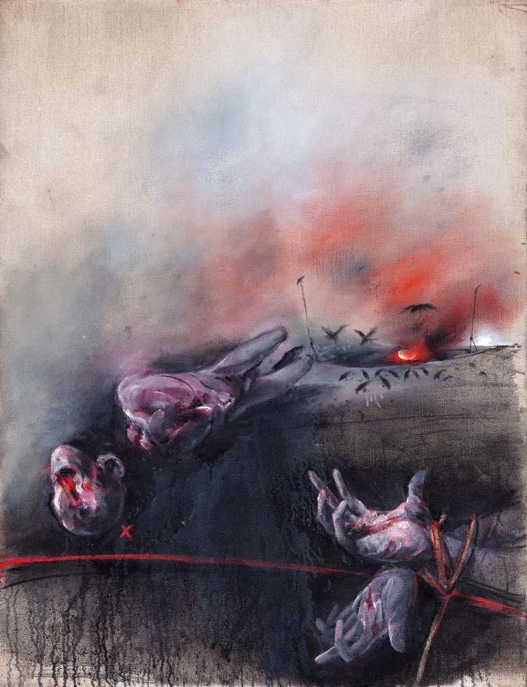 Paysage, 2017, huile sur toile, 116 x 89 cm