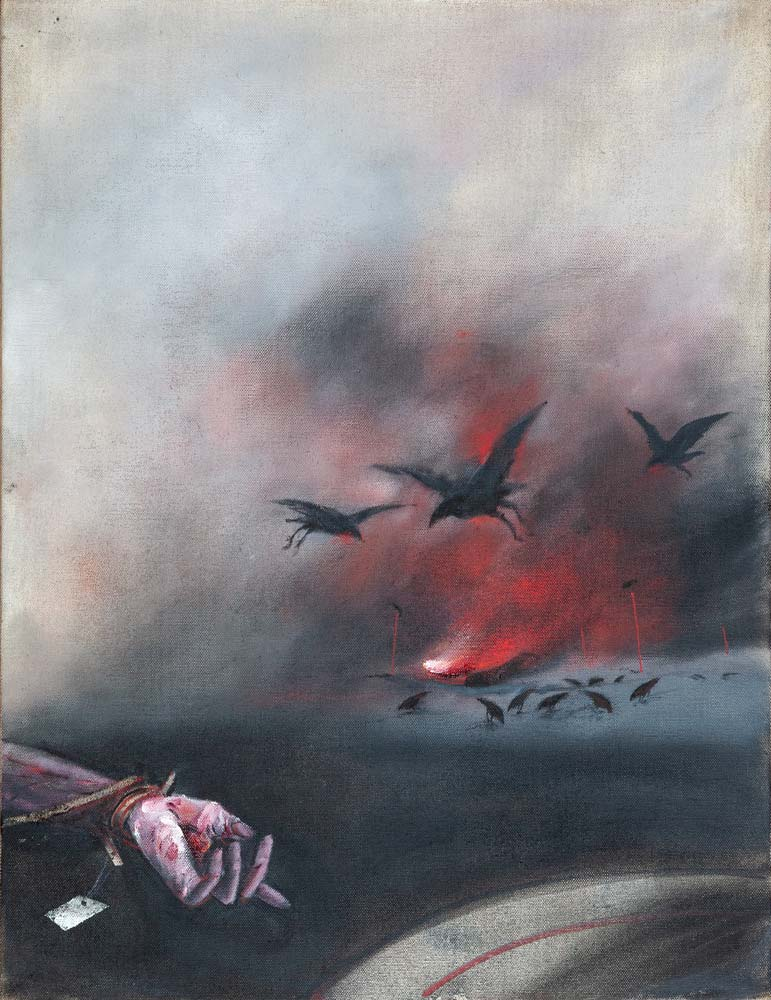 Paysage, 2018, huile sur toile, 116 x 89 cm