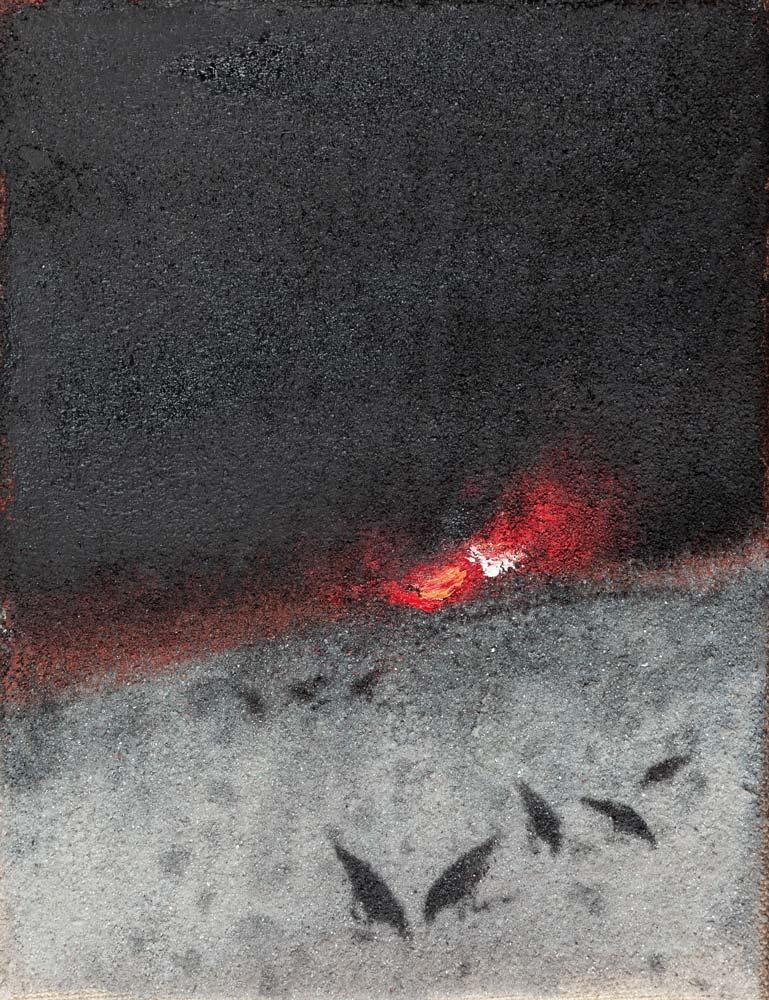 Paysage, 2018, huile sur toile, 35 x 27 cm
