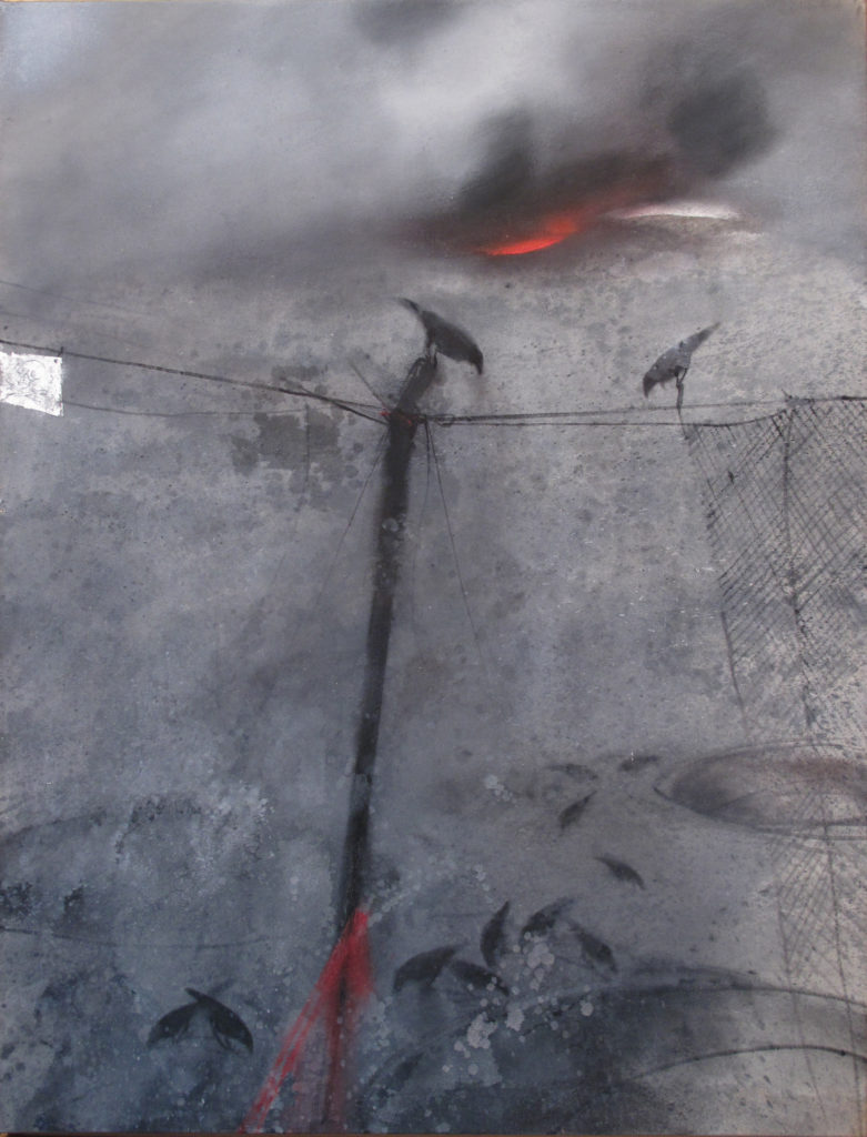 Feu, 2007, huile sur toile, 116 x 89