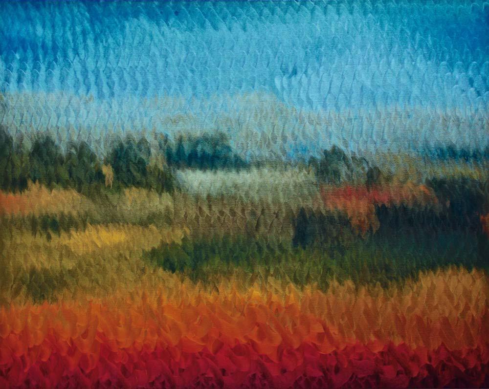 Paradise lost 1 - 2018 - huile sur toile - 150 x 190
