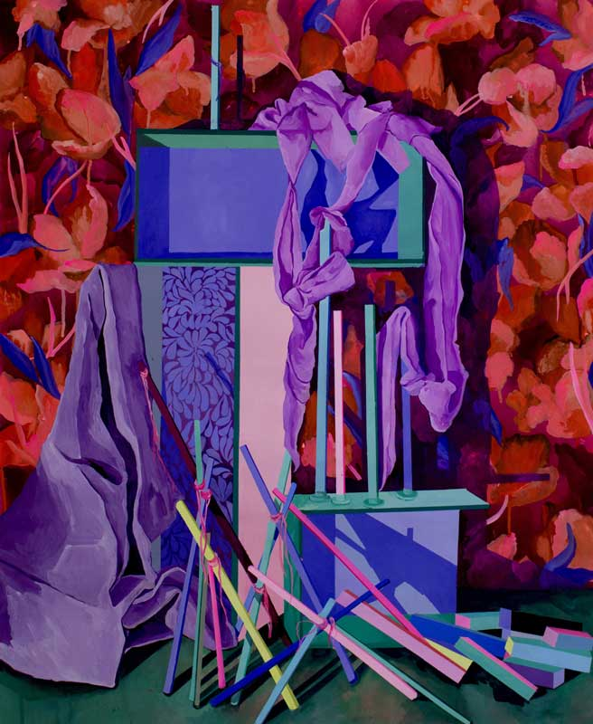 Autel 05, 2019, gouache sur papier, 100 x 81